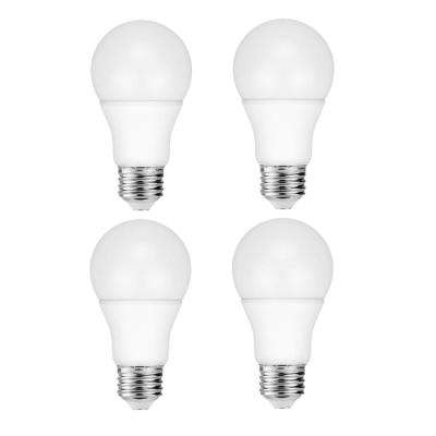 60-Watt Equivalent A19 Dimmable LED Light Bulb Warm White (4-Pack)