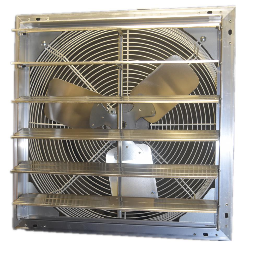 16 in. 1100 CFM Power Shutter Mounted Variable Speed Exhaust Fan