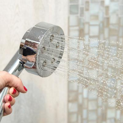 3-Spray 4 in. Single Wall Mount Handheld Adjustable Shower Head in Chrome