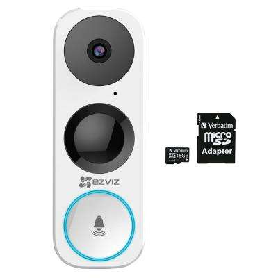 DB1 Wired 3.0-Megapixel Wi-Fi Smart Video Door Bell with 16 GB microSDHC Card and Adapter