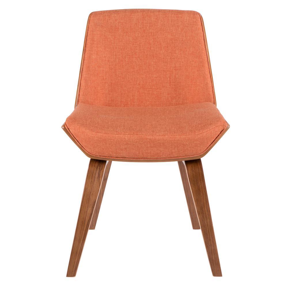 Lumisource Corazza Walnut and Orange Counter Chair CH-CRZZ WL+O