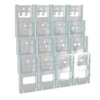 16-Pocket Trifold Wall Mount Display