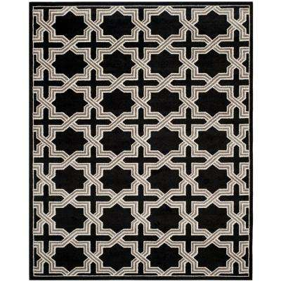 Amherst Anthracite/Gray 8 ft. x 10 ft. Indoor/Outdoor Area Rug