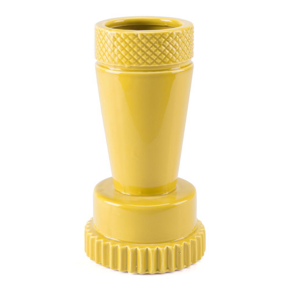 Yellow Inca Small Decorative Vase
