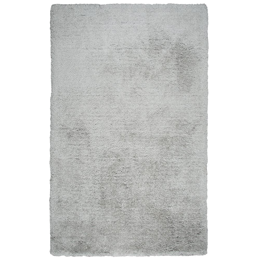 Commons Silver Polyester Shag 9 ft. x 12 ft. Area Rug