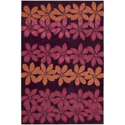 Spring Days Plum 7 ft. x 9 ft. Area Rug