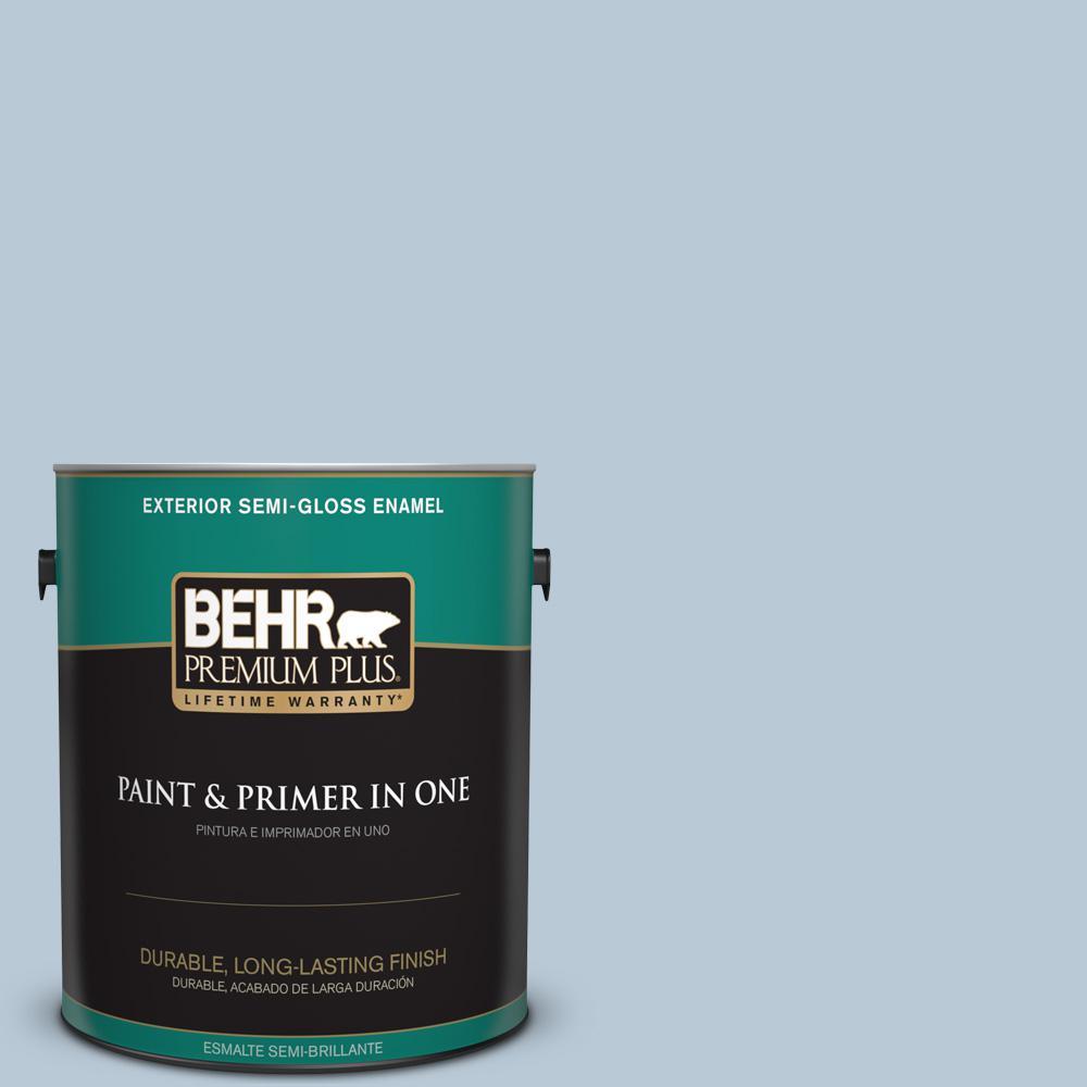 1 gal. #PPU14-15 Denim Light Semi-Gloss Enamel Exterior Paint