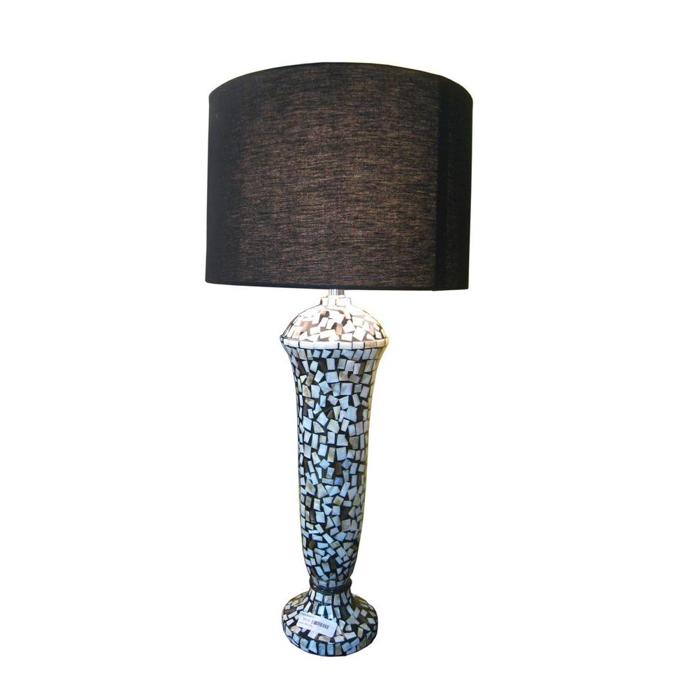 Jeffan Camilia 31 in. Table Lamp In Ceramic Base Accented with Mother of Pearls-DISCONTINUED