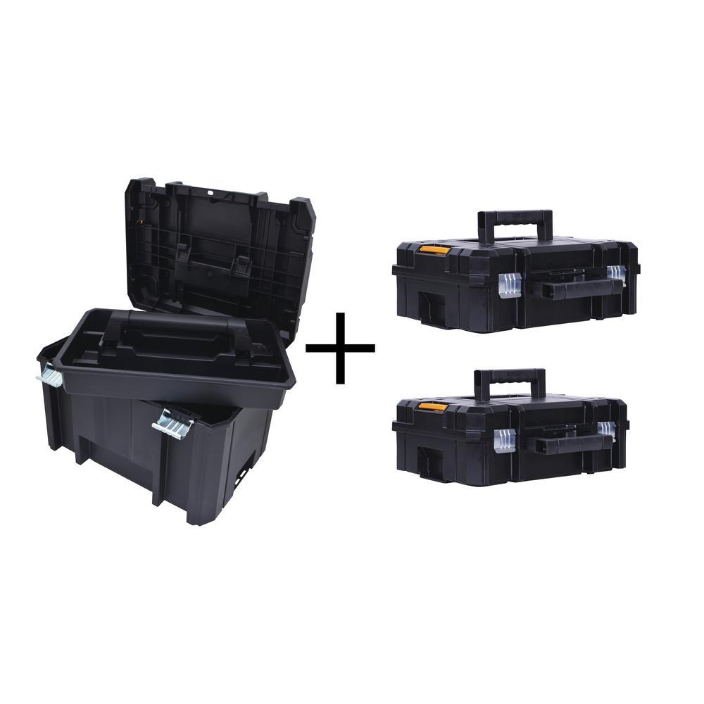 TSTAK VI 17 in. Deep Tool Box and (2) TSTAK II Deep Tool Boxes Combo Set (3 Components)