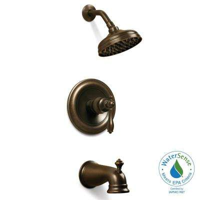Estates WaterSense 1-Handle Tub and Shower Faucet in Heritage Bronze (Valve Included)