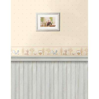 Happy Forest Friends Taupe Wallpaper Border