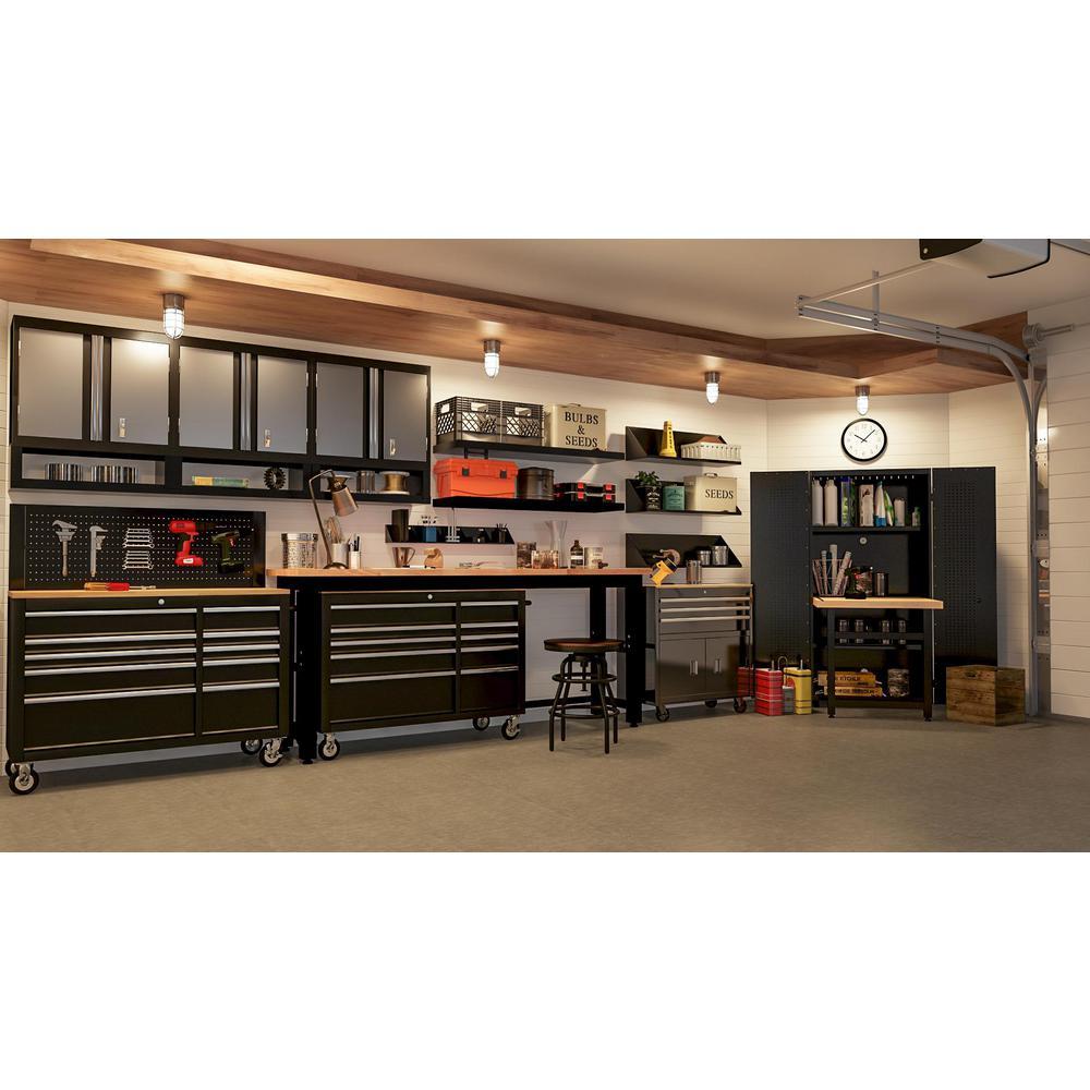 Hdx 15 Compartment Interlocking Small, Garage Tool Storage Ideas Home Depot