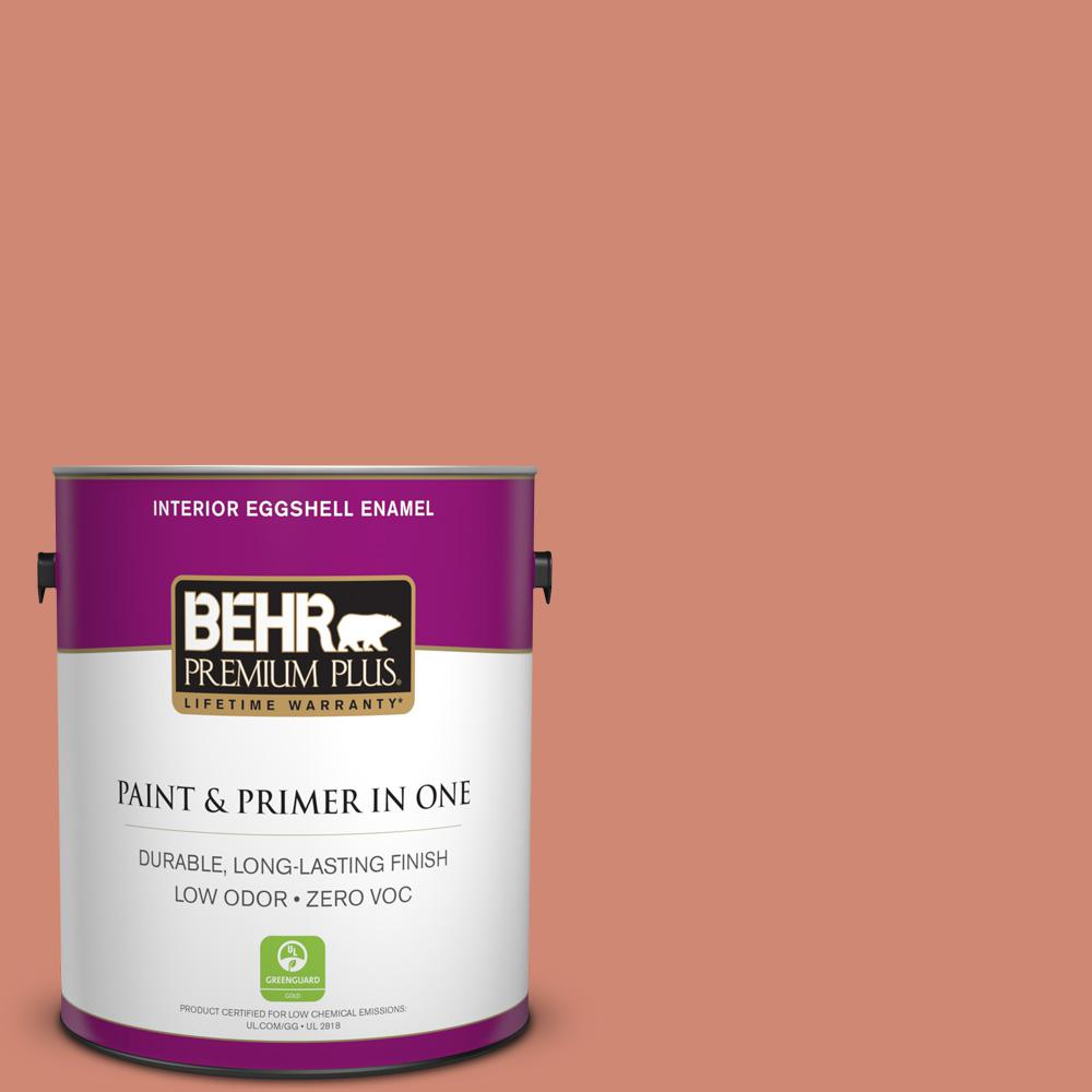 1 gal. #HDC-WR16-02 Rosy Copper Zero VOC Interior Eggshell Enamel Paint