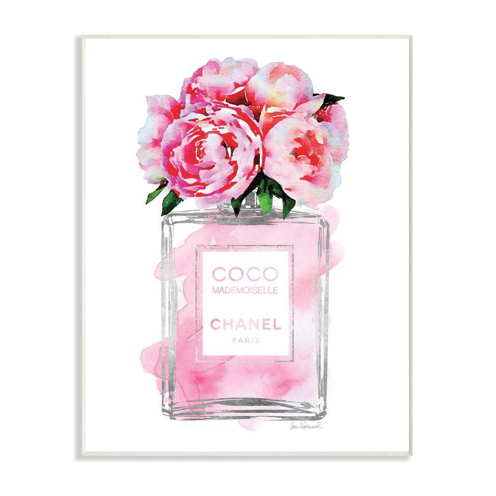Stupell Industries 10 In X 15 In Glam Perfume Bottle V2 Flower
