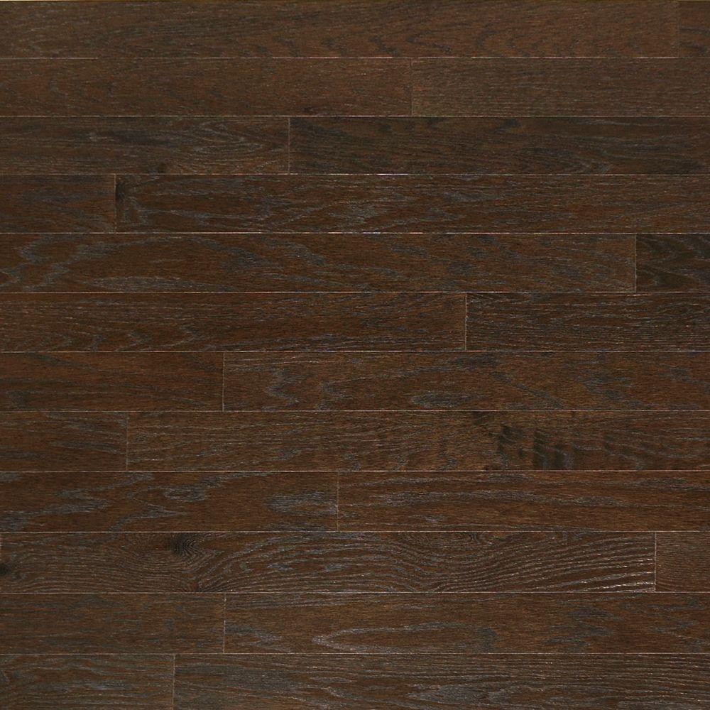 Heritage Mill Brushed Oak Graphite 3/8 in. Thick x 4-3/4 in. Wide x Random Length Engineered Click Hardwood Flooring (33 sq. ft./case)