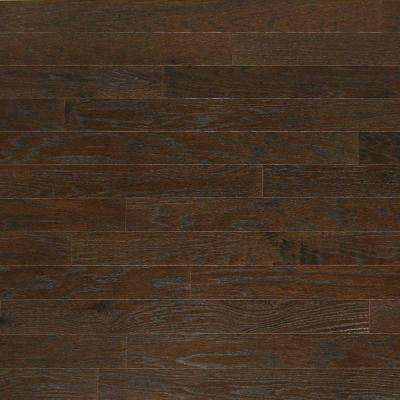 Brushed Oak Graphite 3/4 in. Thick x 4 in. Wide x Random Length Solid Hardwood Flooring (21 sq. ft. / case)