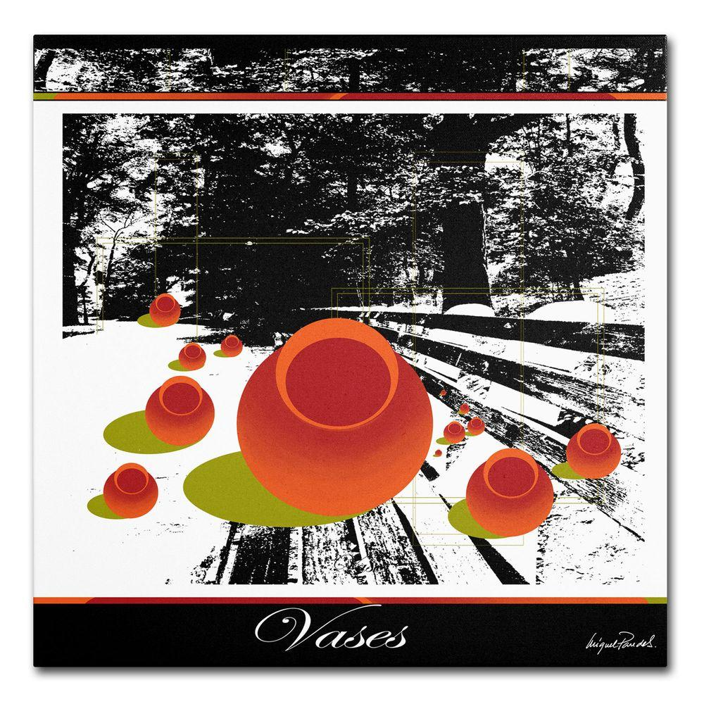 14 in. x 14 in. Clay Vases Canvas Art