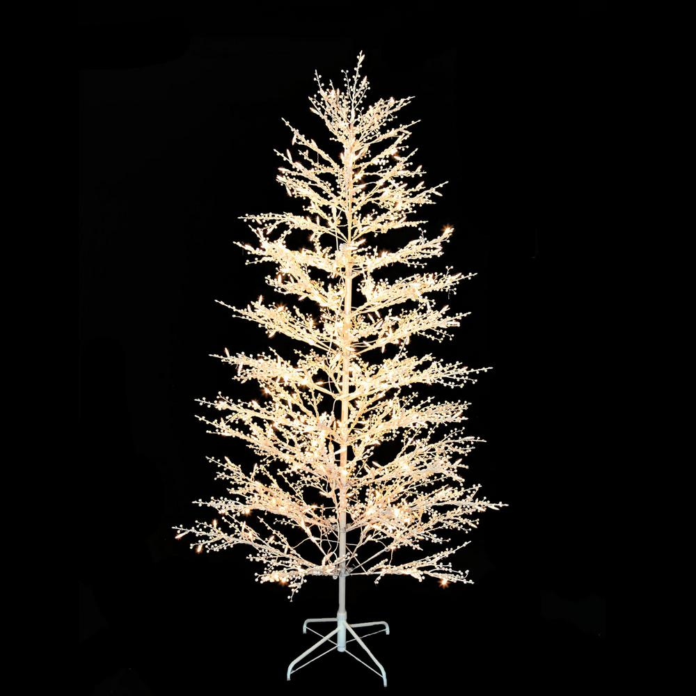 home accents holiday 7 ft led white tree with berries st070775tc500 the home depot home accents holiday 7 ft led white tree with berries st070775tc500 the home depot