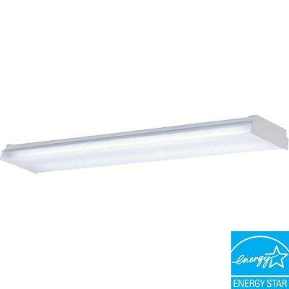 2-Light White Fluorescent Fixture