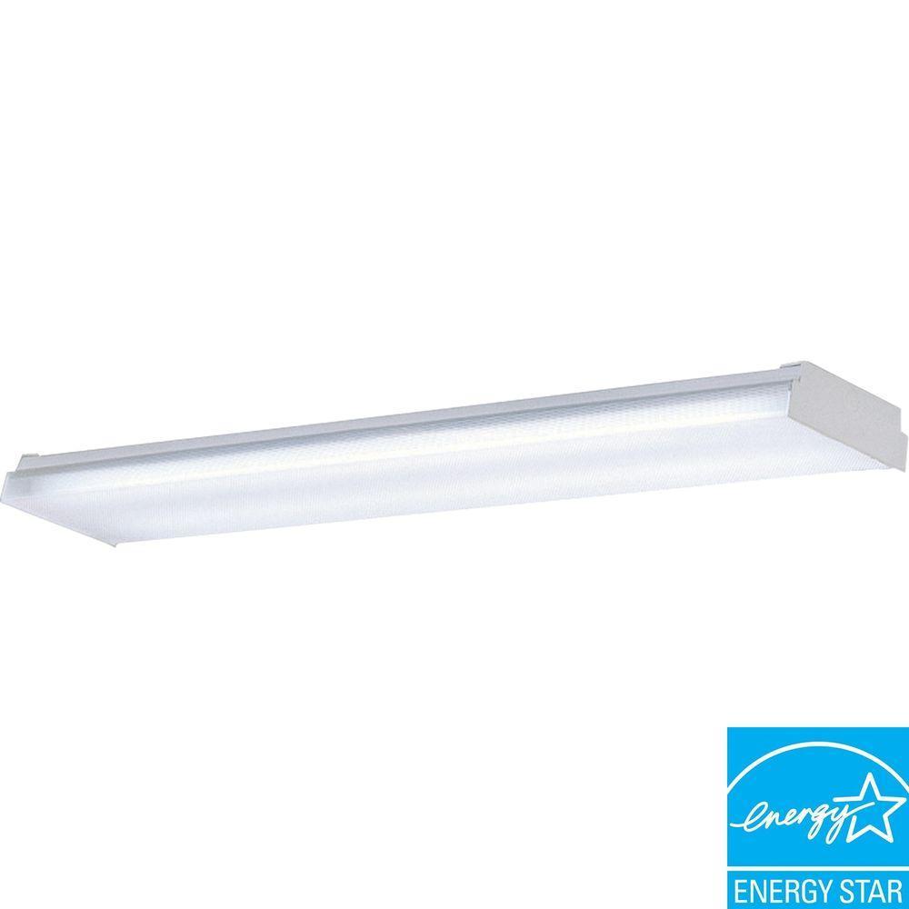 Progress Lighting 2-Light White Fluorescent Fixture