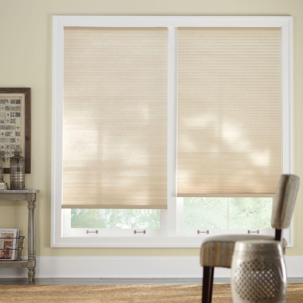 Home Decorators Collection Shadow White 9 16 In Blackout Cordless Cellular Shade 60 In W X