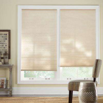 Sahara 9/16 in. Cordless Light Filtering Cellular Shade - 58 in. W x 48 in. L (Actual Size 57.625 in. W x 48 in. L)