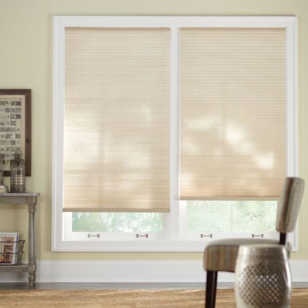 Sahara 9/16 in. Cordless Light Filtering Cellular Shade - 28 in. W x 72 in. L (Actual Size 27.625 in. W x 72 in. L)