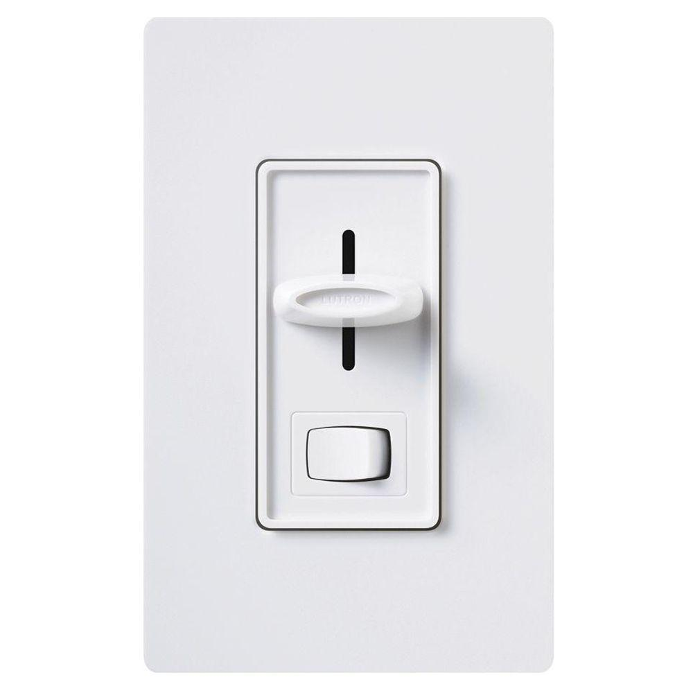 Lutron Skylark 450 Watt Single Pole Magnetic Low Voltage Dimmer White