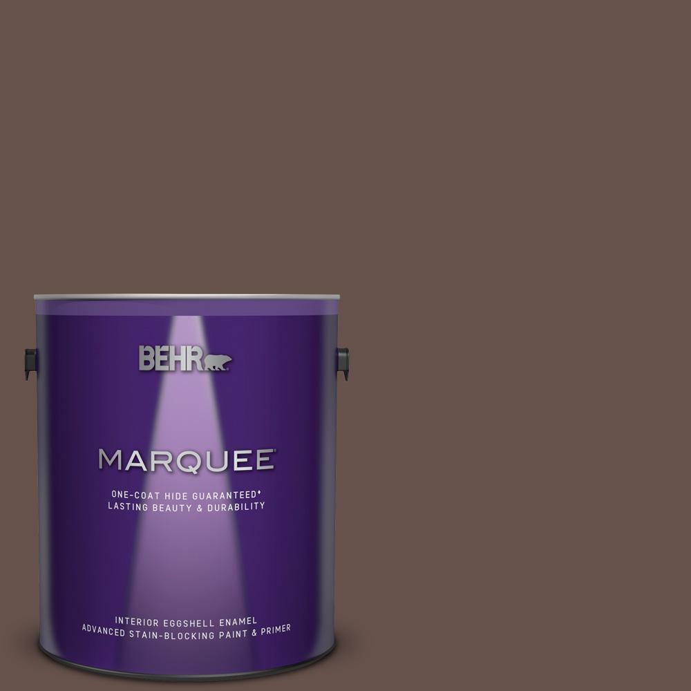 Behr Marquee 1 Gal Ppu5 18 Chocolate Swirl One Coat Hide Eggshell Enamel Interior Paint And Primer In One 245301 The Home Depot