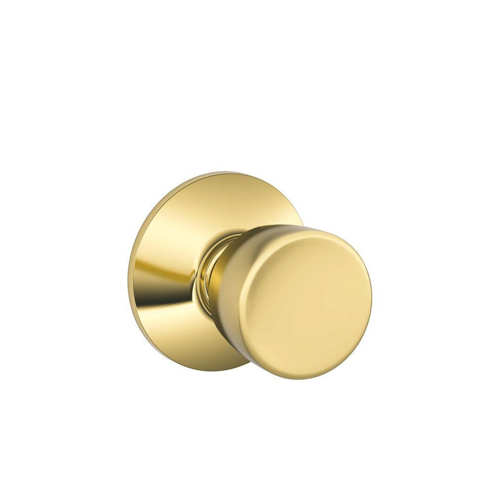 Schlage Bell Bright Brass Hall And Closet Knob