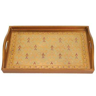 18 in. x 12 in. Antigua Sand Rectangle Tray