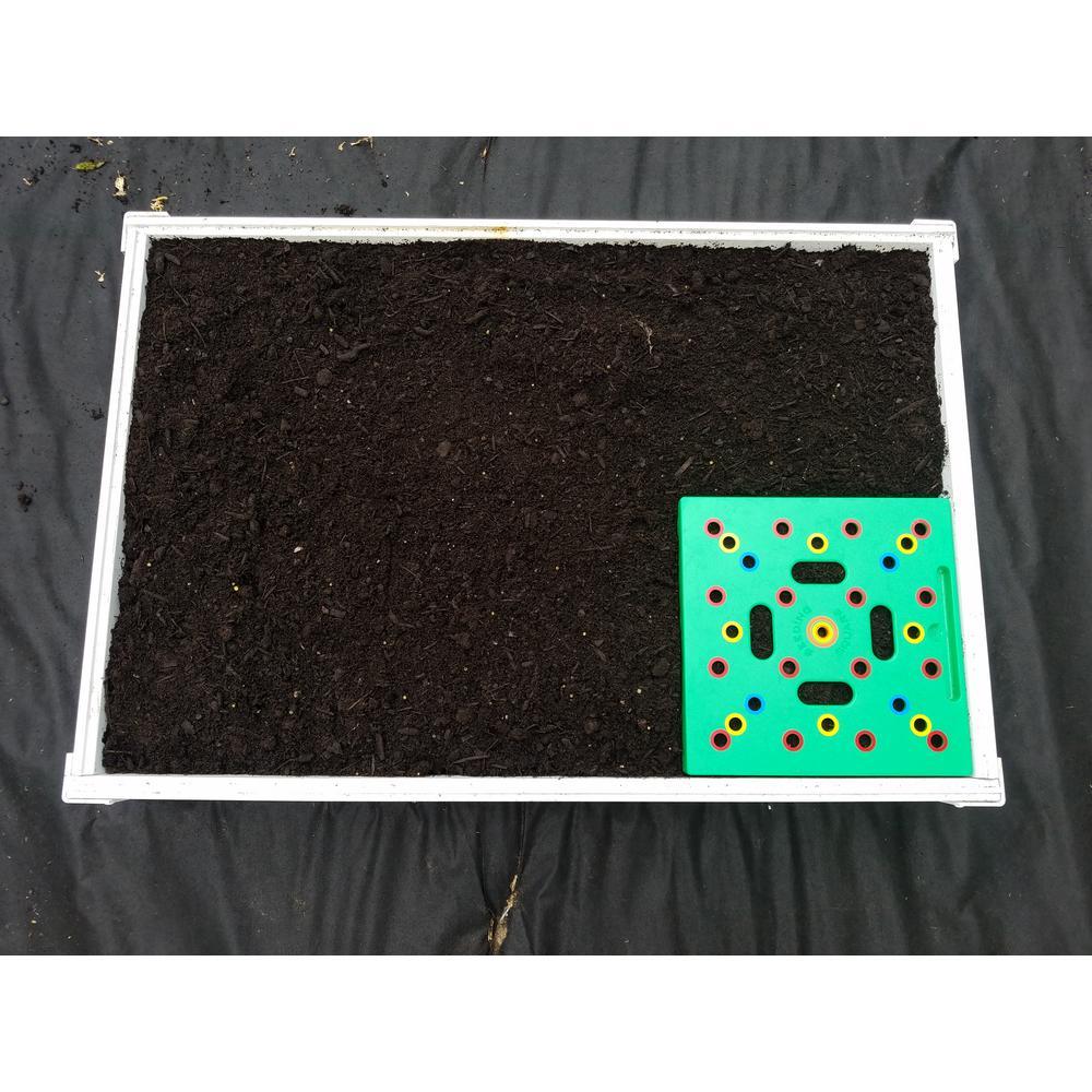 2 ft. x 3 ft. Square Foot Design Stack-Able White Vinyl Raised Garden Bed Kit
