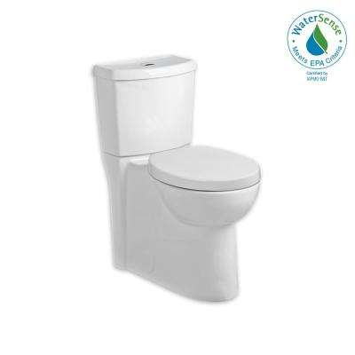 Studio Tall Height Dual 2-Piece 1.6 GPF Dual Flush Elongated Toilet in White