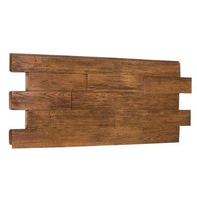 Superior Raised Grain Faux Transitional 1-1/4 in. x 23 in. x 48 in. Custom Walnut Polyurethane Interlocking Panel