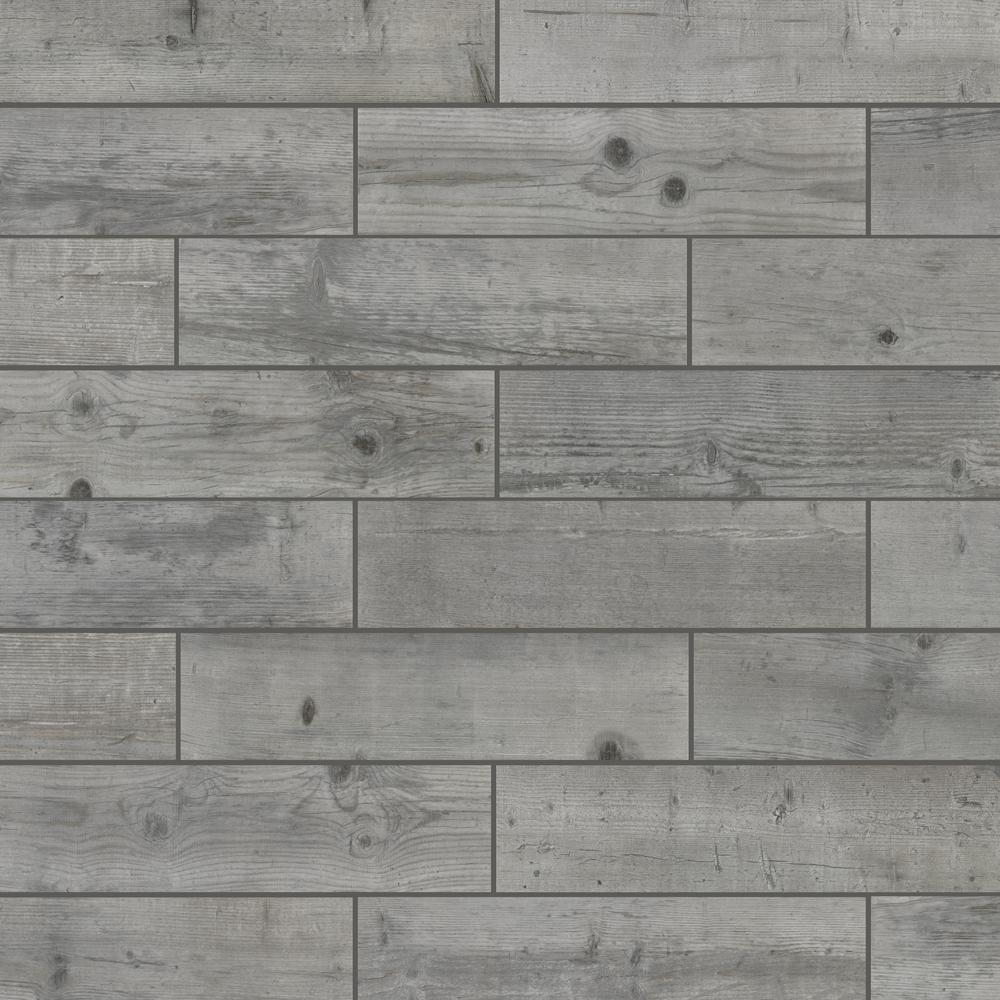 Florida Tile Home Collection Timber Grey 6 in. x 24 in. Porcelain Floor and Wall Tile (448 sq. ft./ pallet)