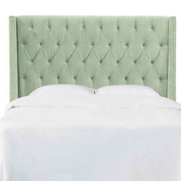 Skyline Furniture Queen Nail Button Tufted Wingback