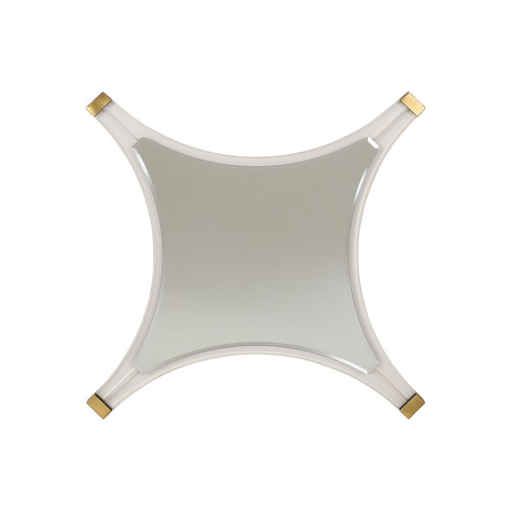 Bellevue 36.40 in. x 36.40 in. Modern Star-Shaped Framed Accent Mirror