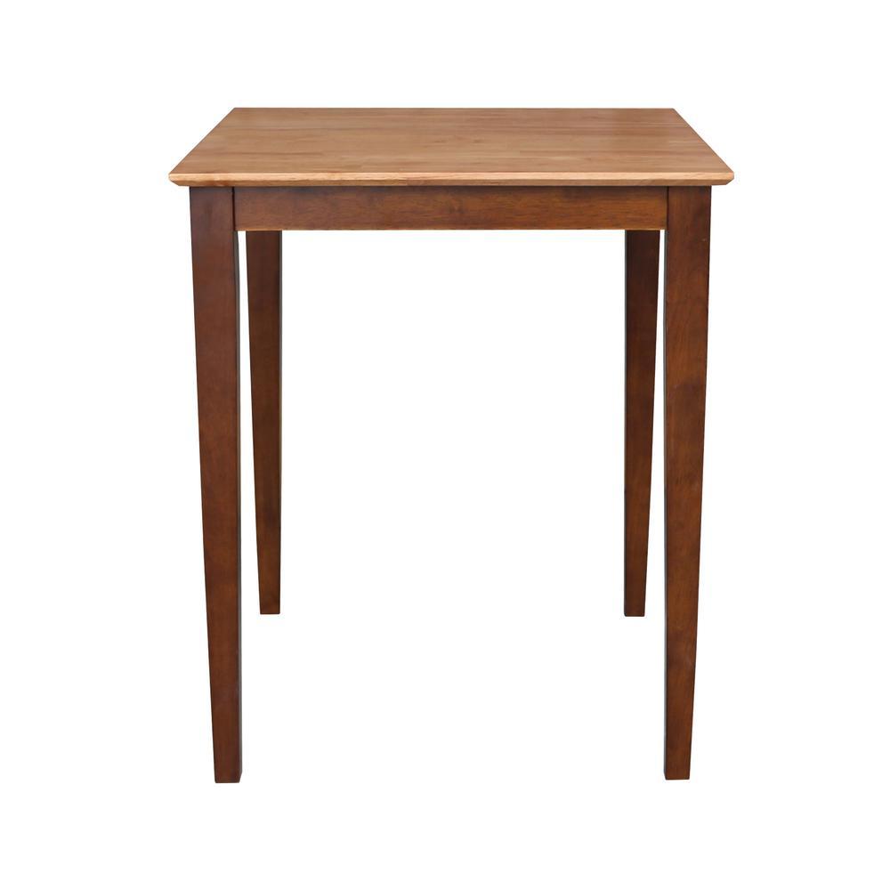 Cinnamon and Espresso 30 in. Square Counter-height Table