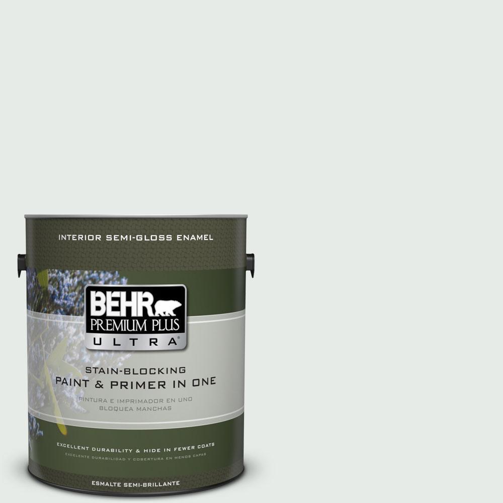 BEHR Premium Plus Ultra 1-gal. #BL-W8 Frothy Surf Semi-Gloss Enamel Interior Paint