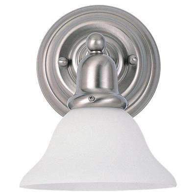 Sussex Collection 1-Light Brushed Nickel Wall/Bath Bracket