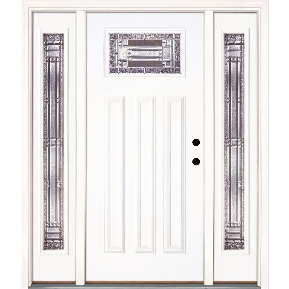 Feather River Doors 63.5 in. x 81.625 in. Preston Zinc Craftsman Unfinished Smooth Left  sc 1 st  The Home Depot : doors preston - pezcame.com