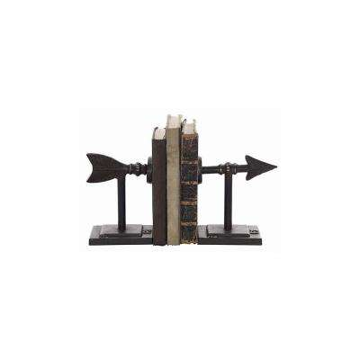 Arrow Brown Metal Bookends (Set of 2)