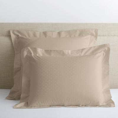 Legends Luxury Dot Cobblestone 500-Thread Count Cotton Sateen King Sham