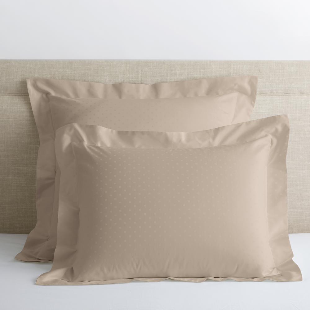 Legends Luxury Dot Cobblestone 500-Thread Count Cotton Sateen Standard Sham