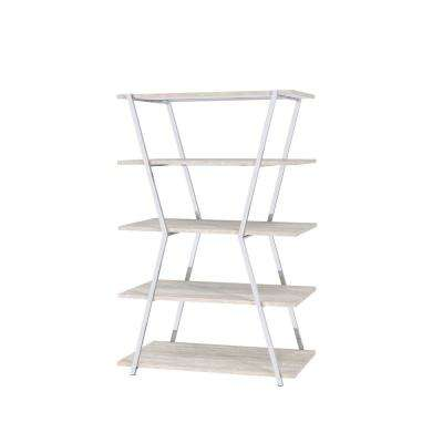 Dayer Modern Chrome Display Bookcase
