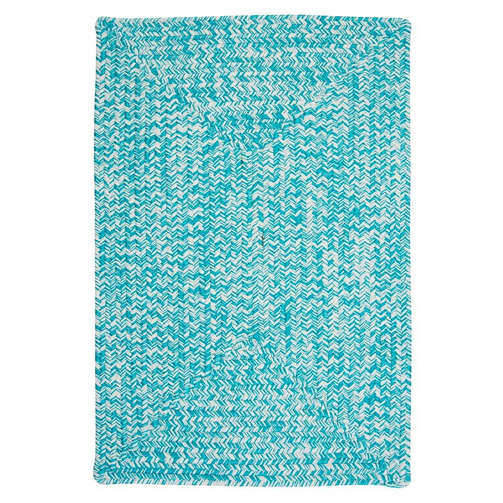 Marilyn Tweed Aquatic 4 ft. x 6 ft. Braided Accent Rug