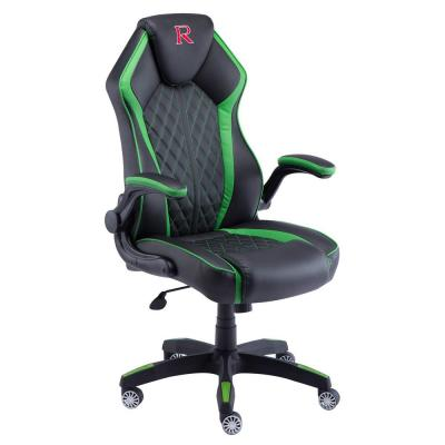 Racing Black Chair Upholstery Reclingng PU Gaming Office Chair with Lumbar Support