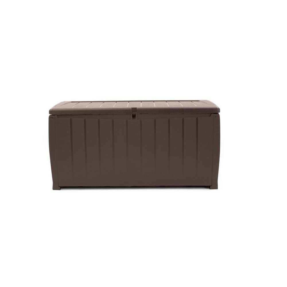 Novel 90 Gal. Resin Deck Box in Espresso Brown