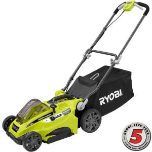 Ryobi 16 inch 40-Volt Lithium-Ion Cordless Battery Walk Behind Push Lawn Mower without Battery and Charger by Ryobi