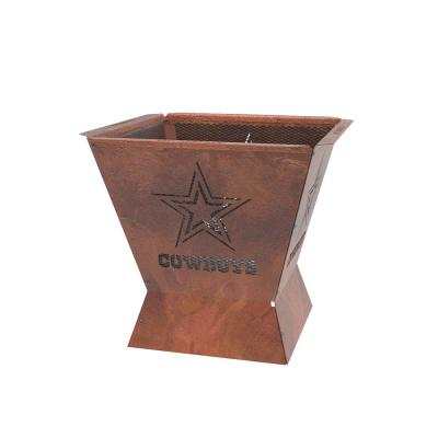 Badlands NFL 29.5 in. x 26 in. Square Steel Wood Fire Pit - Dallas Cowboys